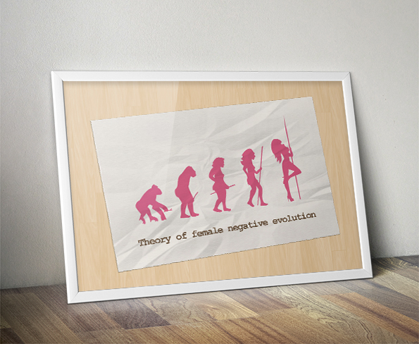 Theory of woman negative evolution – Poster Design
